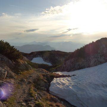 Der Abend senkt sich über den mystischen Untersberg…